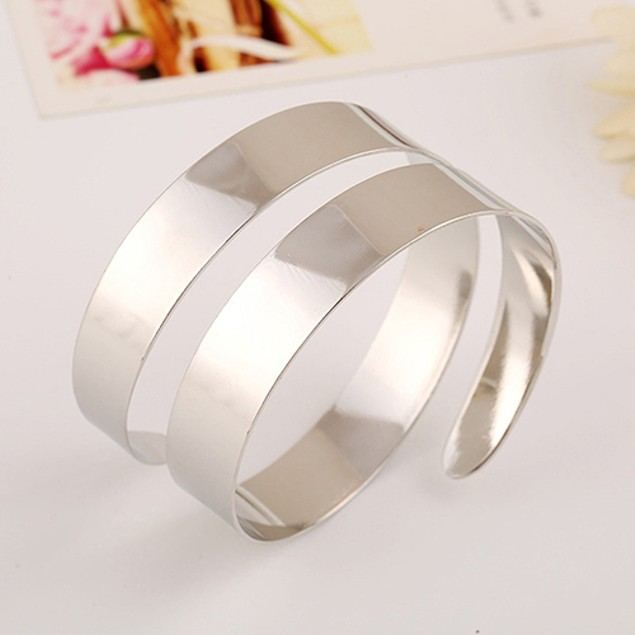 Women Punk Simple Coiled Spiral Bracelet