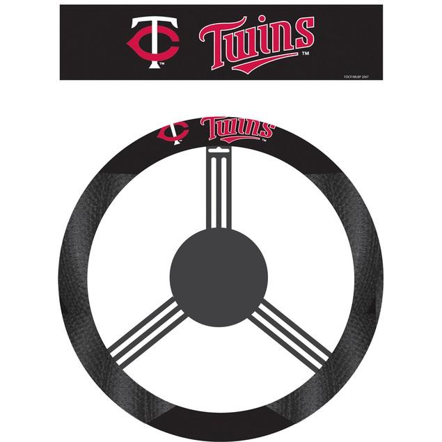 Minnesota Twins Steering Wheel Cover MLB Baseball Team Logo Poly Mesh