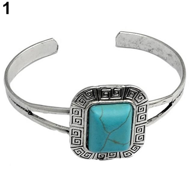 Women's Retro Style Geometric Bangle Bracelet