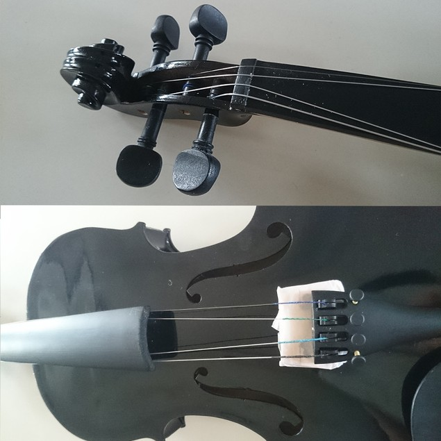 Student Acoustic Violin Full 1/8 Maple Spruce with Case Bow Rosin Black