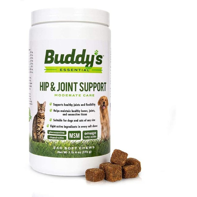 Hip and Joint Support Glucosamine Chews for Dogs and Cats with Arthritis