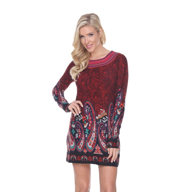 Sandrine Embroidered Sweater Dress - 5 Colors