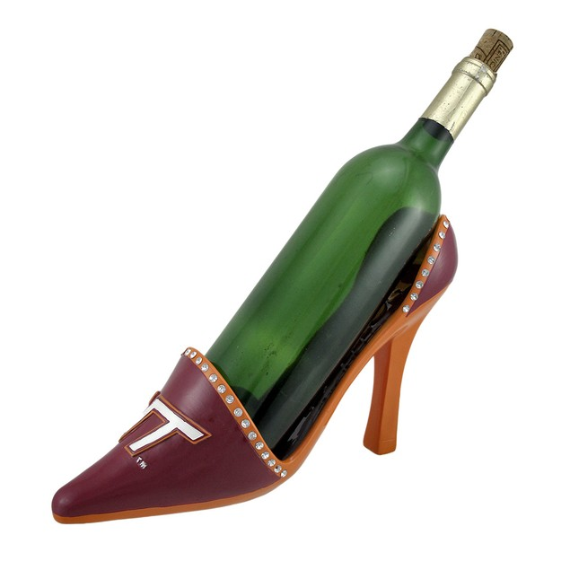 Ncaa Virginia Tech Hokies High Heel Shoe Wine Wine Bottle Holders