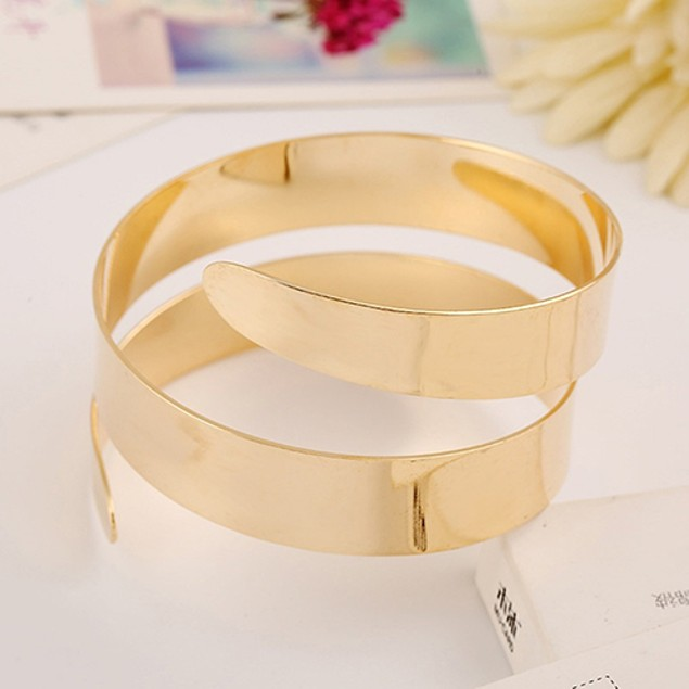 Punk Simple Coiled Spiral Bracelet