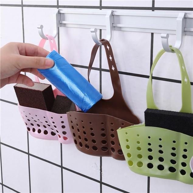 4Pcs Kitchen Shelf Faucet Sponge Drain Rack Hanging Adjustable