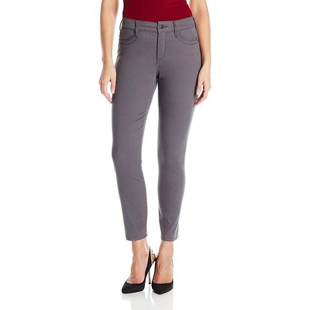 NYDJ Women's Adalaine Skinny Ankle Jeans, Dark Graphite, 2