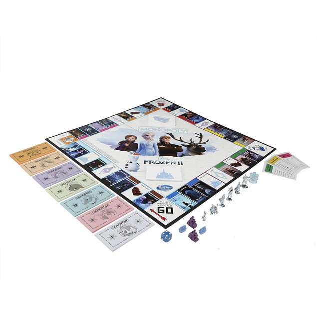 Monopoly Game: Disney Frozen 2 Edition Board Game For Ages Eight and Up