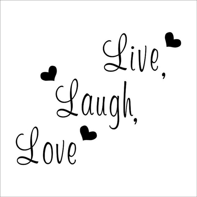 """""""Live, Laugh, Love """" Heart DIY Removable Wall Decal"""