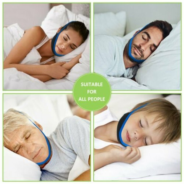 Anti Snoring Chin Strap and Sleep Aid. Adjustable Snore Stopper