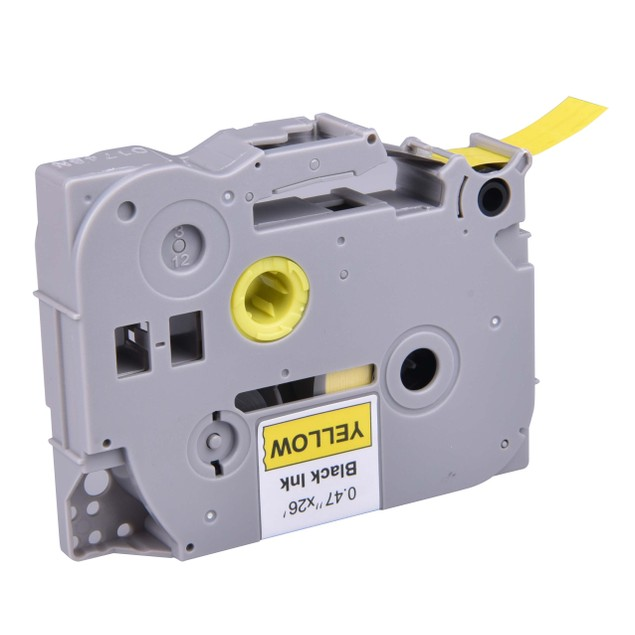 """Compatible Label Tape for Brother P-touch TZe-631 - 26' Bk on Yellow 1/2"""""""