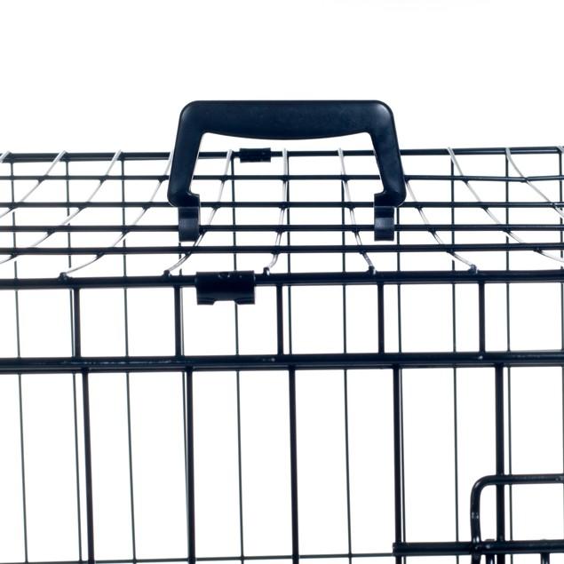 PETMAKER Medium 2 Door Foldable Dog Crate Cage - 30 x 19 Inch