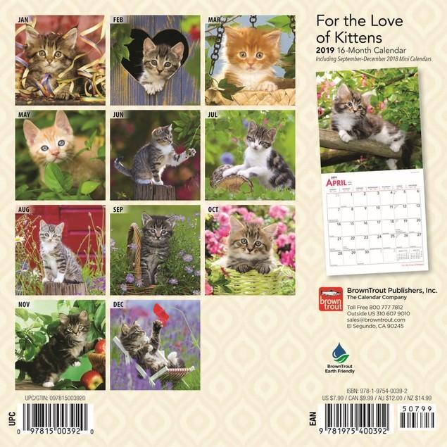 Love Of Kittens Mini Wall Calendar, Kittens by Calendars