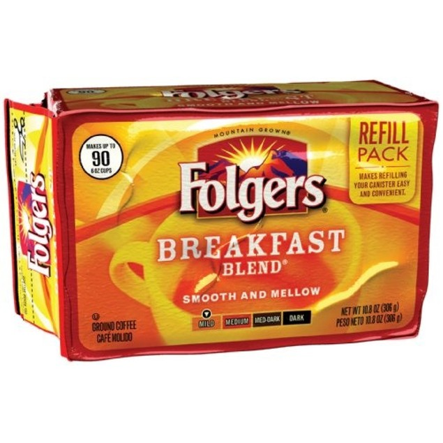 Folgers Breakfast Blend Ground Coffee Refill 2 Pack