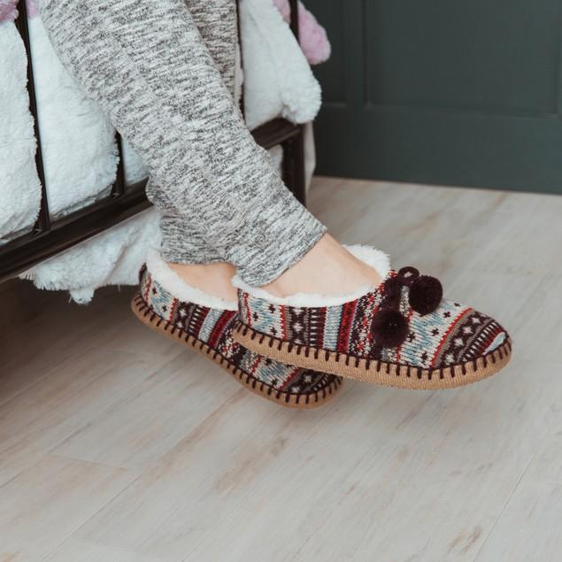 MUK LUKS ® Women's Pom Ballerina Moccasins