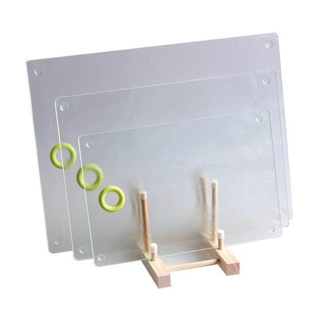 Rough surface glass breakfast board 9.8inch x 13.8inch 25x35cm