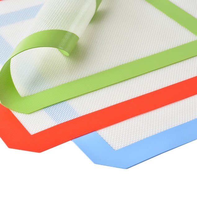 Silicone Baking Mat Set of 3, 2 x Standard Half Sheet, 1 X Toaster Oven