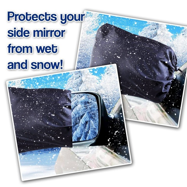 Zone Tech 2x Side Car Mirror Frost Guard Snow Ice Winter Waterproof Cover