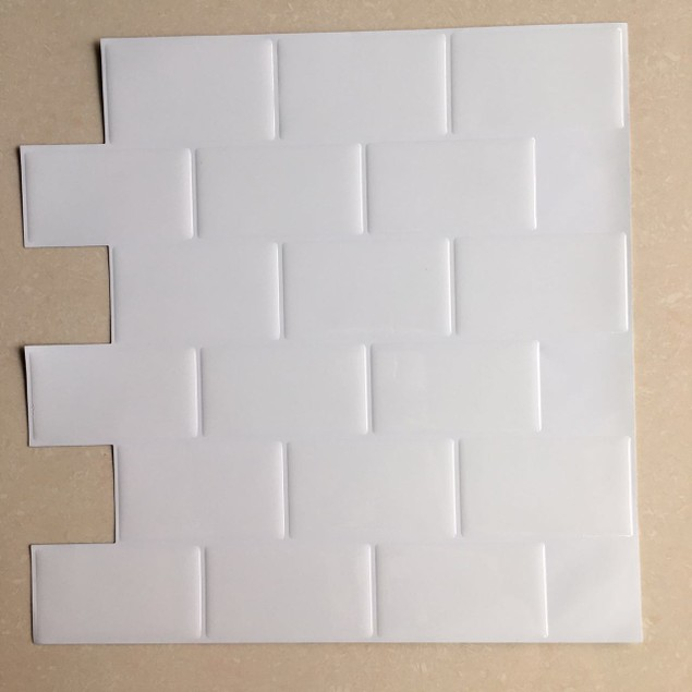 "Art3d 12"" X 12"" Self Adhesive Backsplash Subway Tiles"