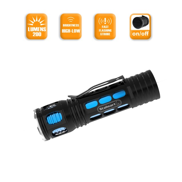 Aluminum Flashlight Blue Stalwart