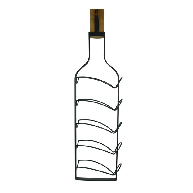 Wine Bottle Shaped 5 Bottle Hanging Wine Rack Wine Racks
