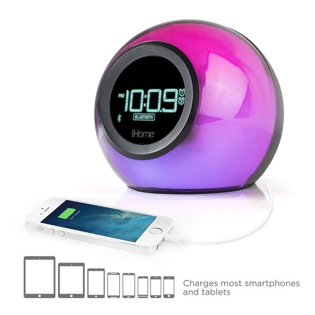 Bluetooth Color Changing Dual Alarm Clock FM Radio