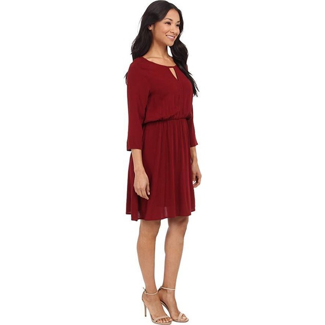Brigitte Bailey Women's Camille Dress Wine Dress LG