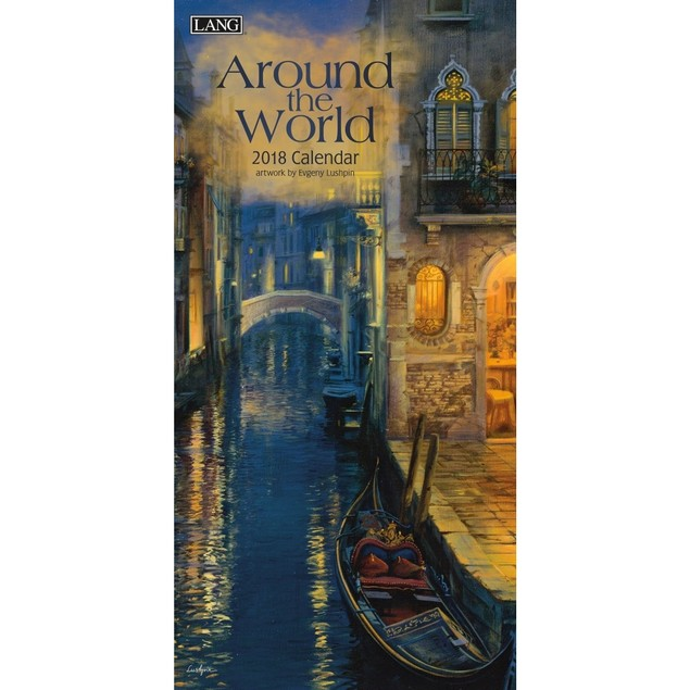 Around the World Slim Wall Calendar, Lang Folk Art by Calendars