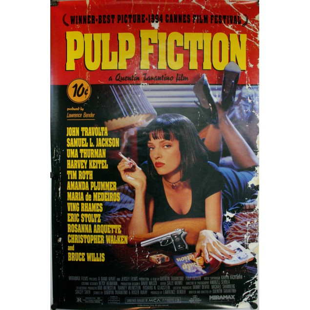 Pulp Fiction Uma Thurman Poster 36 x 24 Quentin Tarentino Movie