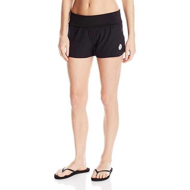 Body Glove Women's Seaside Vapor 2 Inch Boardshort, Black, Small