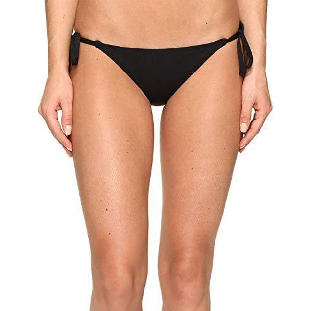 Becca by Rebecca Virtue Women's Tie Side Hipster Bikini Bottom Black S