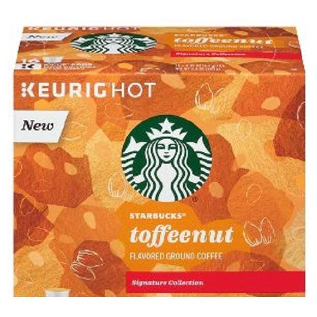 Starbucks Toffeenut Flavored Coffee Keurig K-Cups