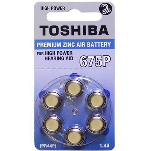 Toshiba Size 675P High Power Zinc Air Hearing Aid Batteries (60 pack)