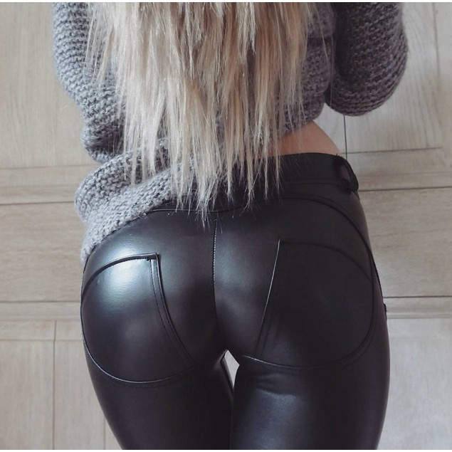 Women's Leggings Yoga Leather Pants