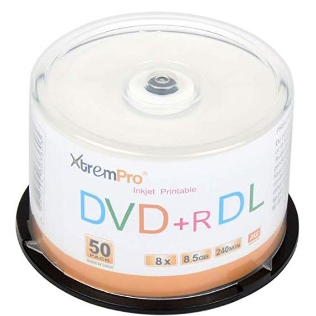 DVD+R DL 8X 8.5GB 240 Min Double Layer 50 Pack Blank Discs in Spindle