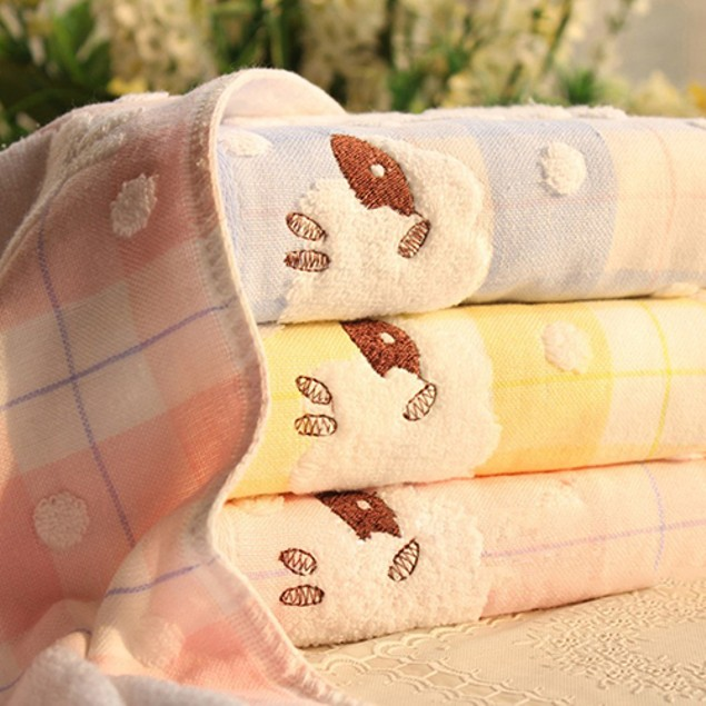 Ultra Soft Sheep Cloud Dotted Pure Cotton Washcloth