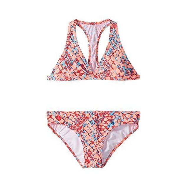 Splendid Littles Girl's Printed Halter Orange Swimsuit Set SIZE 10