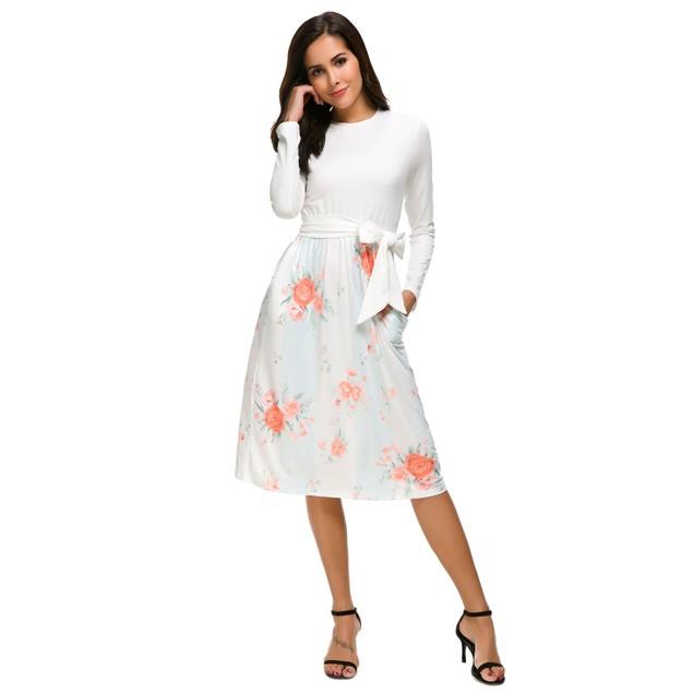 Floral Printed Stripe Dress