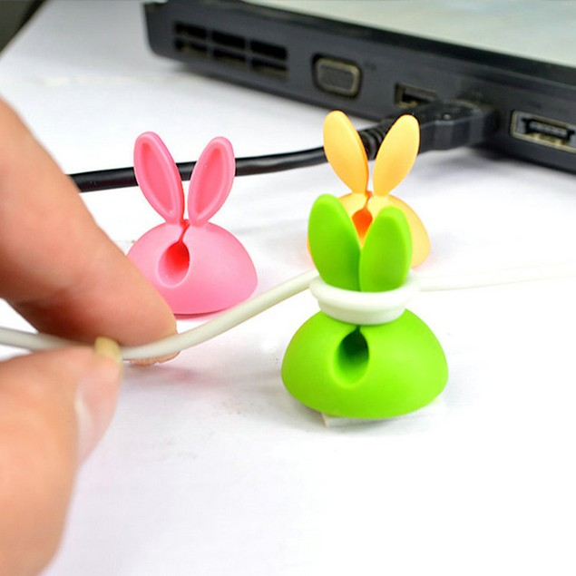 Cable Clip Desk Tidy Wire Drop Lead USB Charger Cord Holder Secure Table