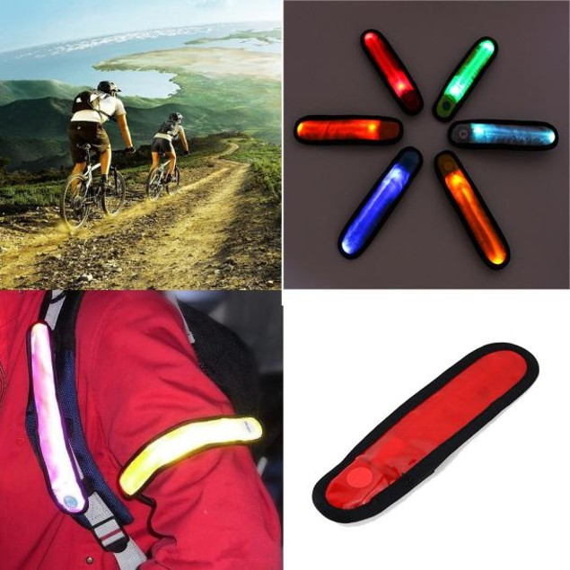 LED Safety Reflective Belt Strap Arm Band Outdoor Night Cycling Running