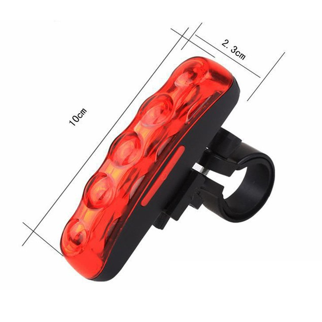 Waterproof 5 LED 3 Mode Cycling Bicycle Bike Warning Safety Rear Tail Light