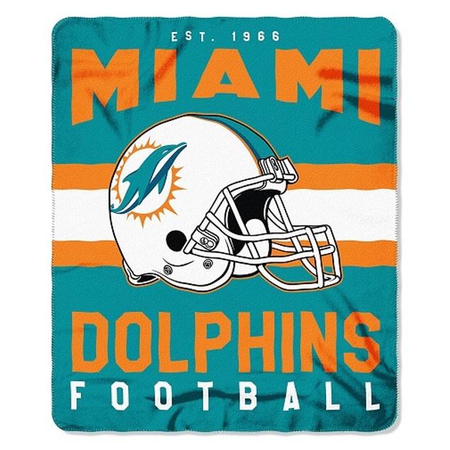 Miami Dolphins NFL Northwest Team Stripe Fleece Throw