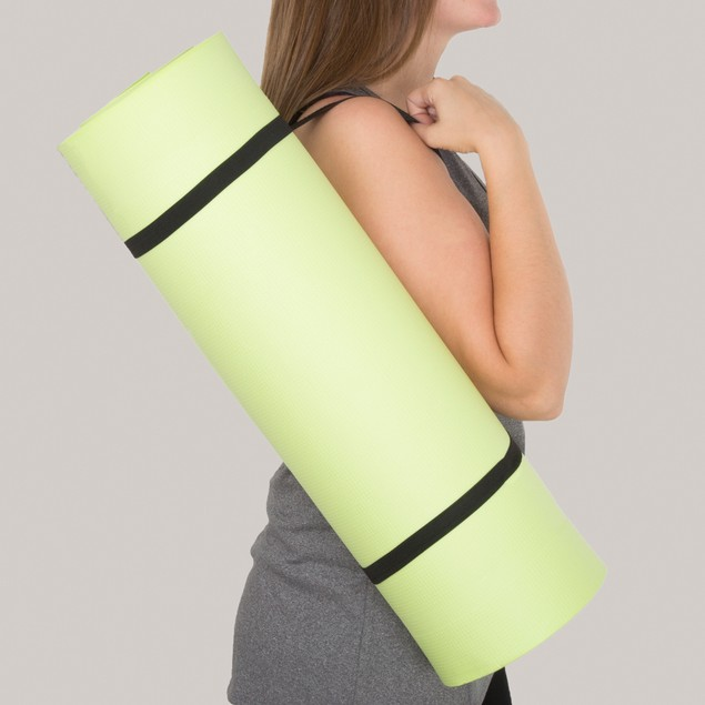 Wakeman Fitness Extra Thick Foam Exercise Mat