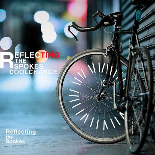 Bicycle Wheel Spoke Reflector Reflective Mount Clip Tube Warning Strip