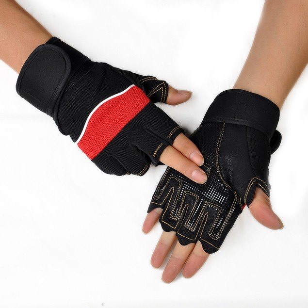 Outdoor Sport Gym Workout Weight Lifting Training Fingerless Gloves