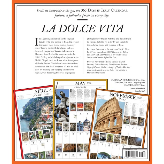 365 Days of Italy Wall Calendar, Italy by Calendars
