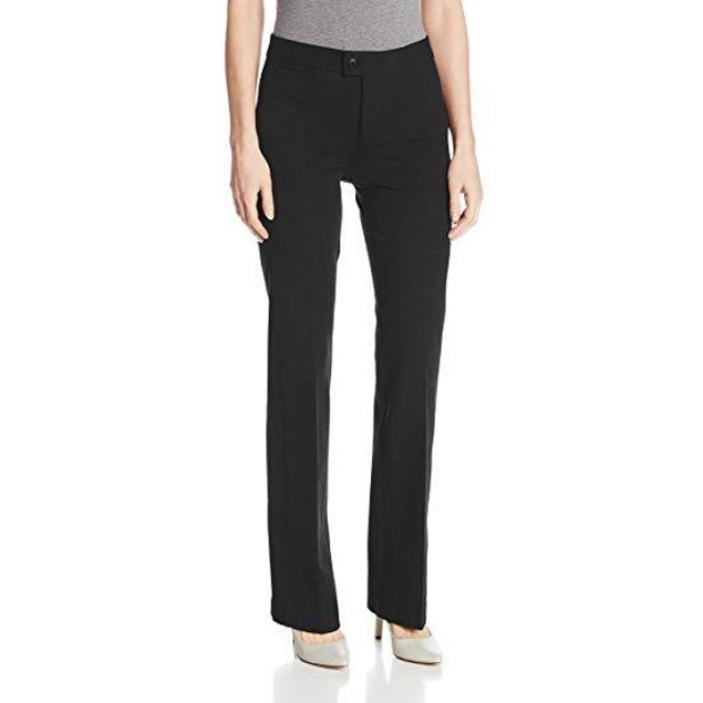 NYDJ Women's Ponte Trouser, Black, 14