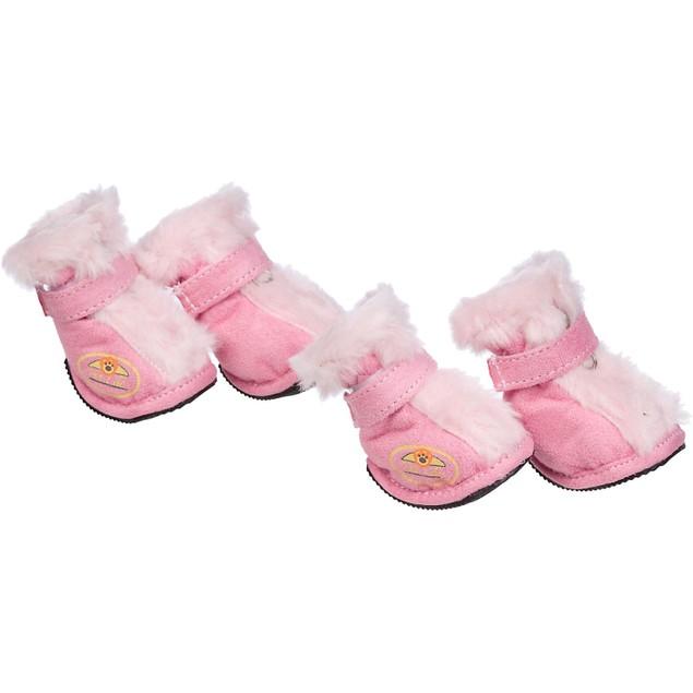 Fashion Premium Fur-Comfort Supportive Pet Suede Boots Shoes - Set of 4