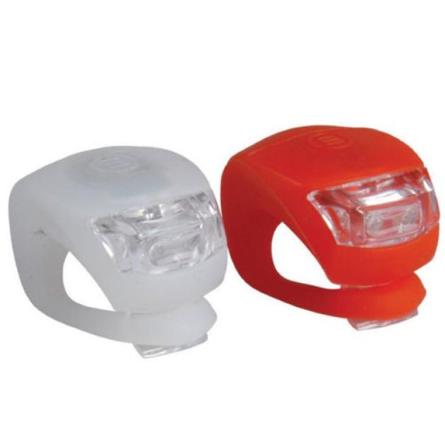 2-Pack LED Bicycle Silicone Front & Rear Wheel Safety Lights
