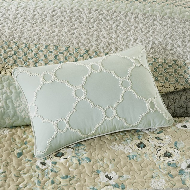 Madison Park Willa 6 Pc. King/Cal King Cotton Sateen Coverlet Set, Green