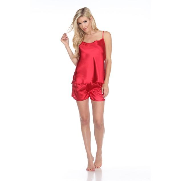 Satin Cami And Shorts Pajama Set - 4 Colors